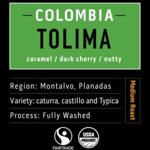 Tolima Columbian light Roast Coffee